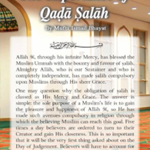 Importance of Qadā Salāh