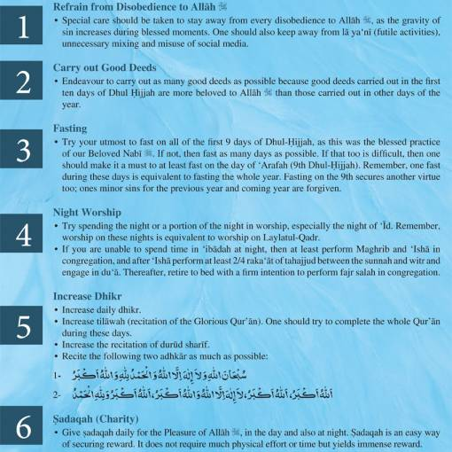 Key Advices for the First Ten Days of Dhul-Hijjah